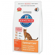 Hill's™ Science Plan™ Feline Adult Optimal Care™ - ėdalas katėms su ėriena