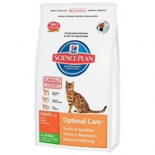 Hill's™ Science Plan™ Feline Adult Optimal Care™ - ėdalas katėms su triušiena