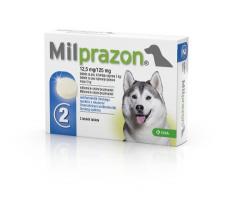 Milprazon® 12,5mg/125mg - tabletės šunims N4 (4 tabletės)
