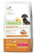 TRAINER Fitness 3 PUPPY JUNIOR MINI - ėdalas šuniukams su lašiša