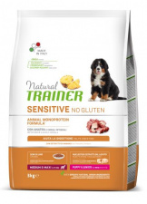 TRAINER Fitness 3 PUPPY Medium Maxi Antiena*Ryžiai*Aliejus