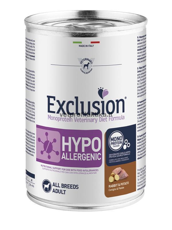 Exclusion® HYPOALLERGENIC su triušiena ir bulvėmis