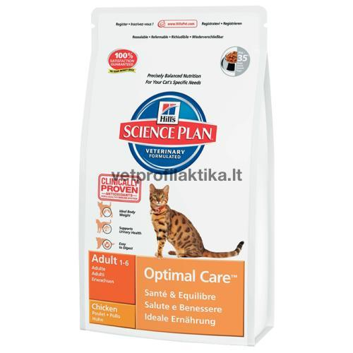 Hill's™ Science Plan™ Feline Adult Optimal Care™ - ėdalas katėms su vištiena