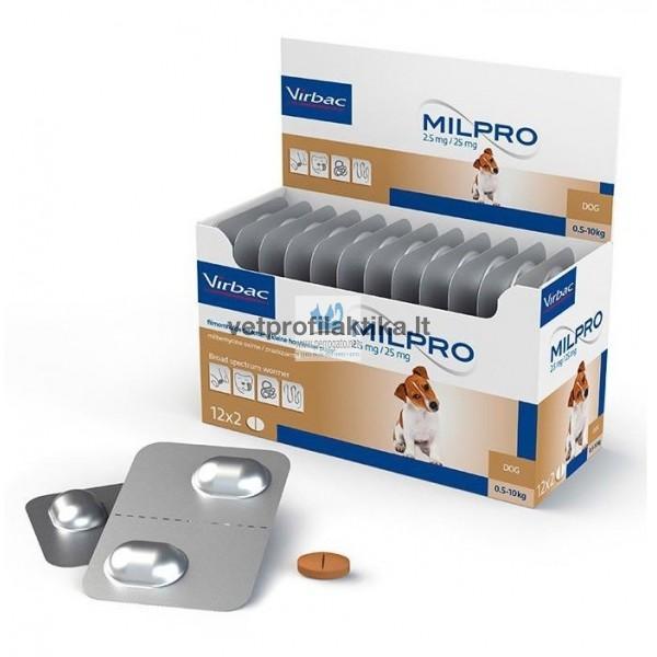 MILPRO® - 2,5mg/25mg šuniukams ir mažų veislių šunims N2