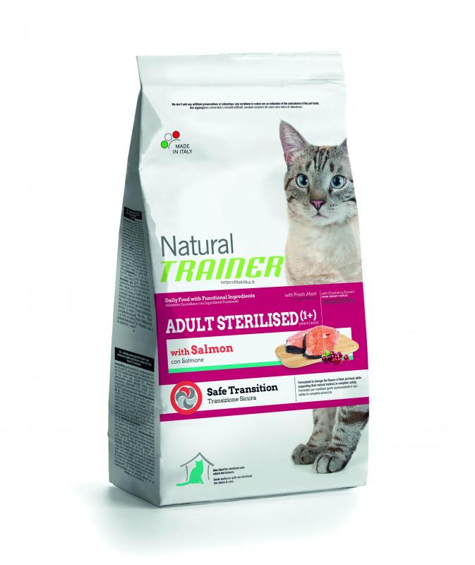 TRAINER NATURAL adult sterilised cat su lašiša