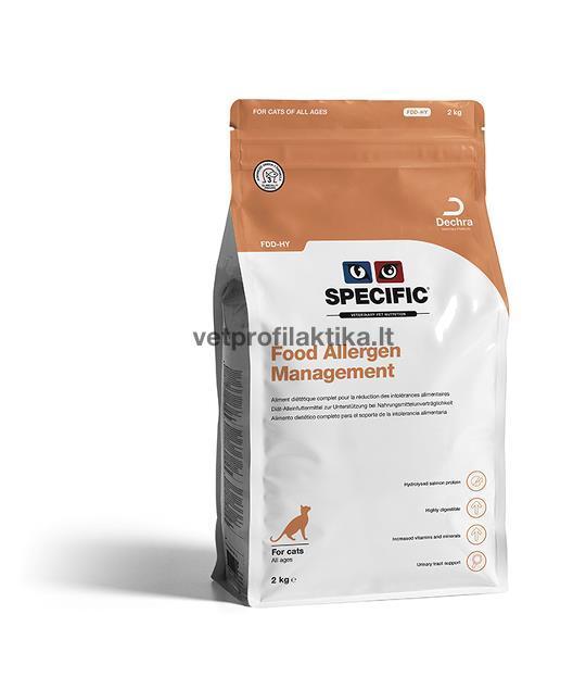 SPECIFIC™ Food Allergy Management FDD-HY - hipoalerginis ėdalas katėms su hidrolizuota lašiša