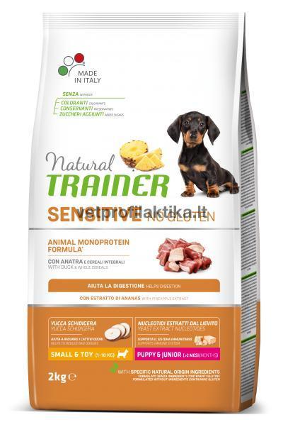 TRAINER Sensitive PUPPY JUNIOR MINI - ėdalas šuniukams su antiena
