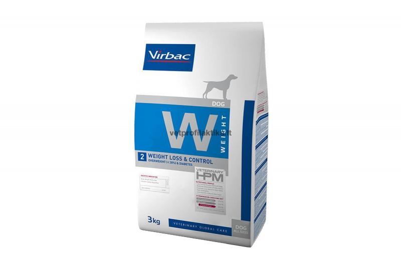 Virbac W2 WEIGHT LOSS & CONTROL - ėdalas tinkamam svoriui palaikyti bei diabetu sergantiems šunims