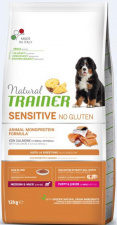 TRAINER Sensitive PUPPY JUNIOR Medium Maxi - ėdalas šuniukams su lašiša