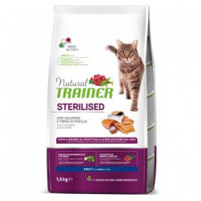 TRAINER NATURAL adult sterilised cat su lašiša