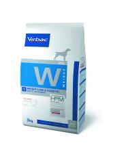 Virbac W1 WEIGHT LOSS & DIABETES - ėdalas šunims esant nutukimui, diabetui