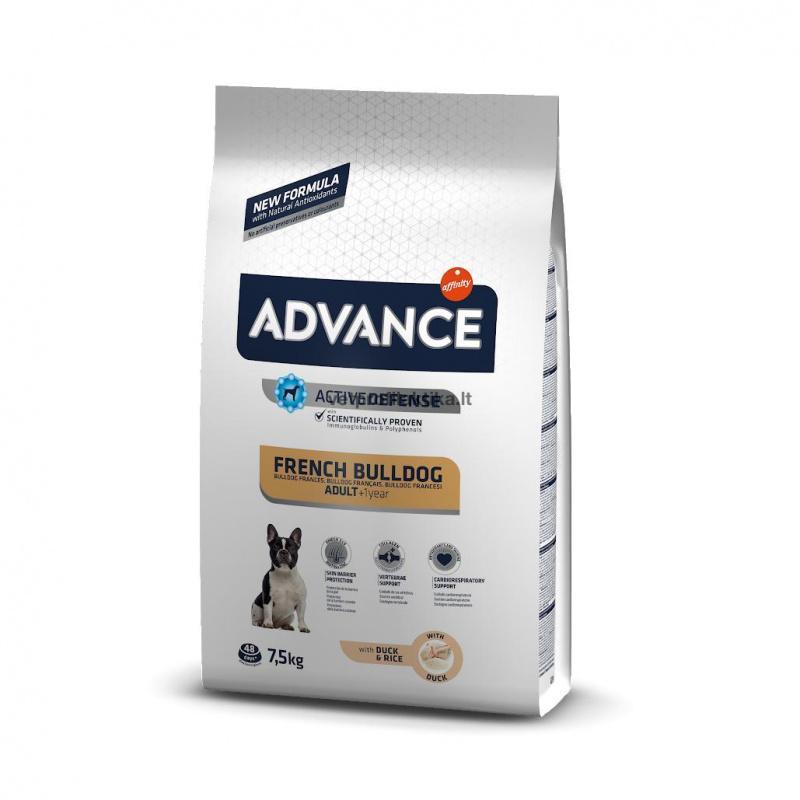 Advance French Buldog Adult with Duck and Rice - ėdalas prancūzų buldogų veislės šunims