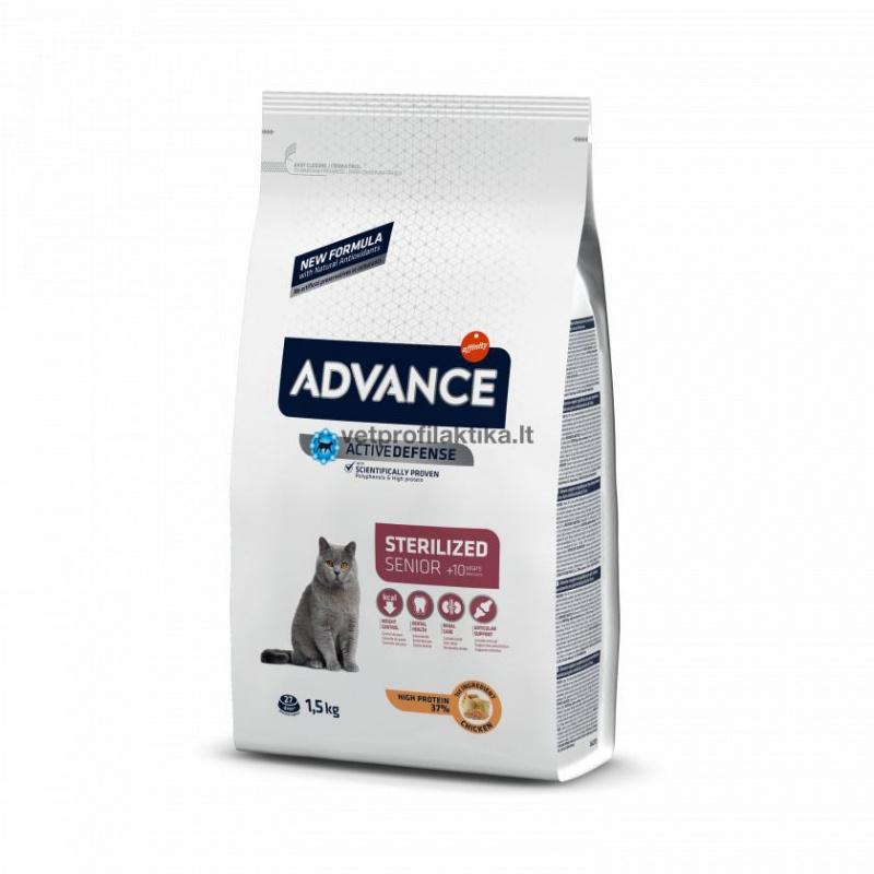 Advance senior +10 Years with Chicken and barley - ėdalas vyresnio amžiaus katėms