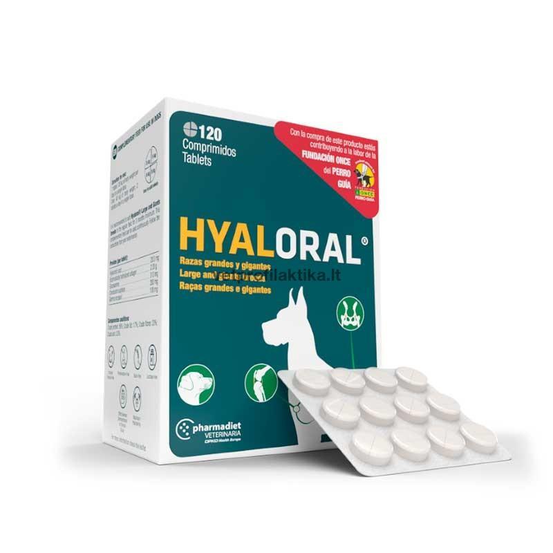 hyalORAL® Large and Giant Breeds - papildas sąnarių funkcijai gerinti