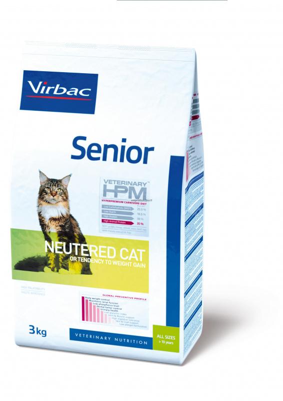 Virbac Senior NEUTERED CAT - ėdalas vyresnio amžiaus sterilizuotoms katėms