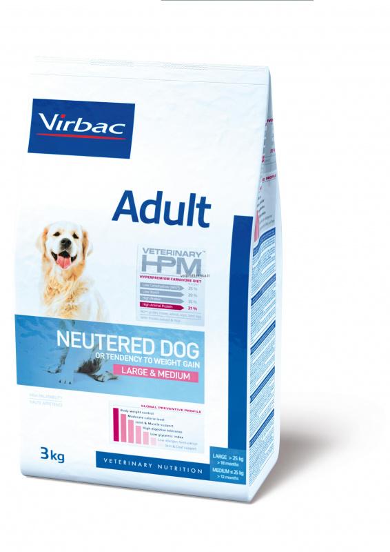 Virbac Adult NEUTERED DOG LARGE & MEDIUM - suaugusiems sterilizuotiems šunims