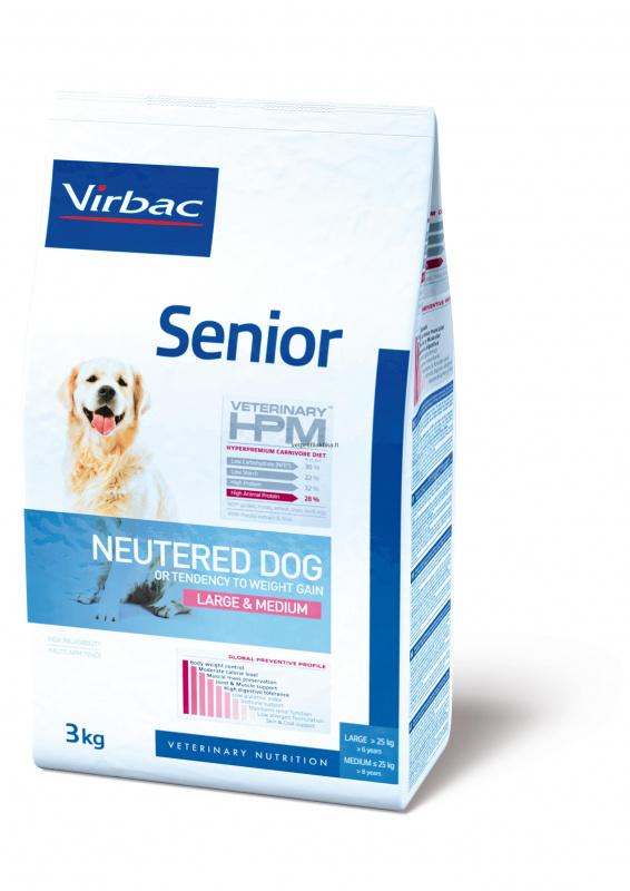 Virbac Senior NEUTERED DOG LARGE&MEDIUM - ėdalas senyviems sterilizuotiems šunims