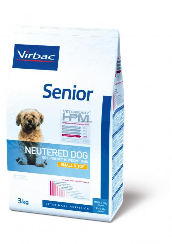 Virbac Senior NEUTERED DOG SMALL & TOY - mažų veislių sterilizuotiems šunims