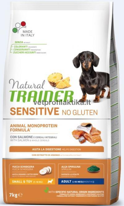 TRAINER Sensitive MINI ADULT Lašiša*Kukurūzai*Aliejus