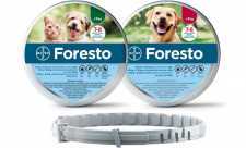 foresto - antkaklis nuo erkių šunims ir katėms sveriantiems iki 8kg
