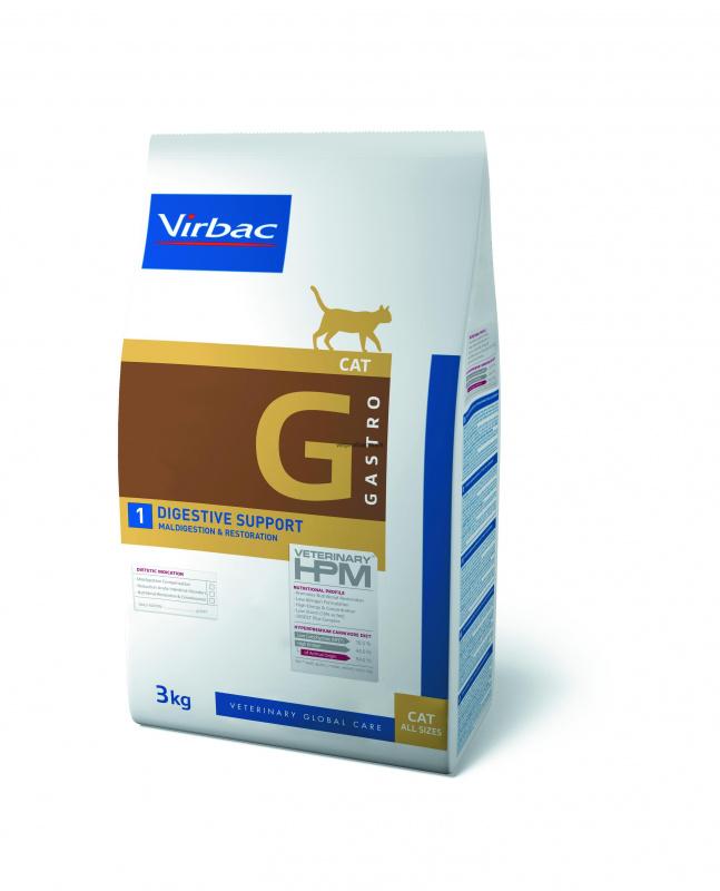 Virbac G1 DIGESTIVE SUPPORT - ėdalas katėms virškinimo sutrikimams atstatyti