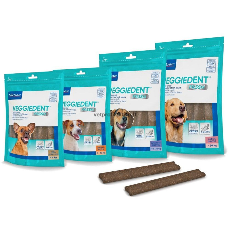 Virbac VeggieDent® FRESH - skanėstai dantų apnašoms ir blogam kvapui naikinti